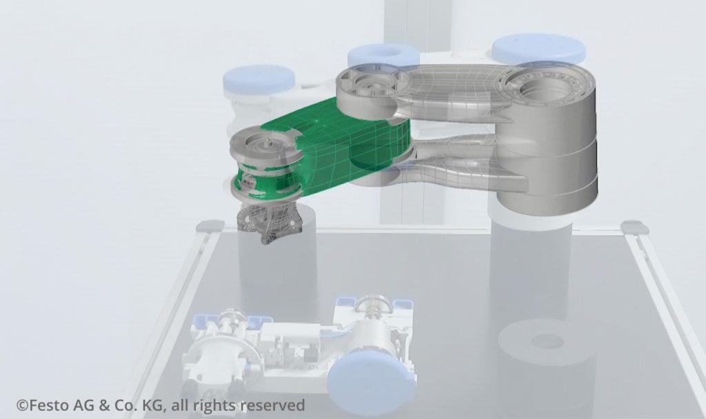 Simulationsgetriebenes Design eines 3D gedruckten, pneumatisch angetriebenen Leichtbau-Roboters
