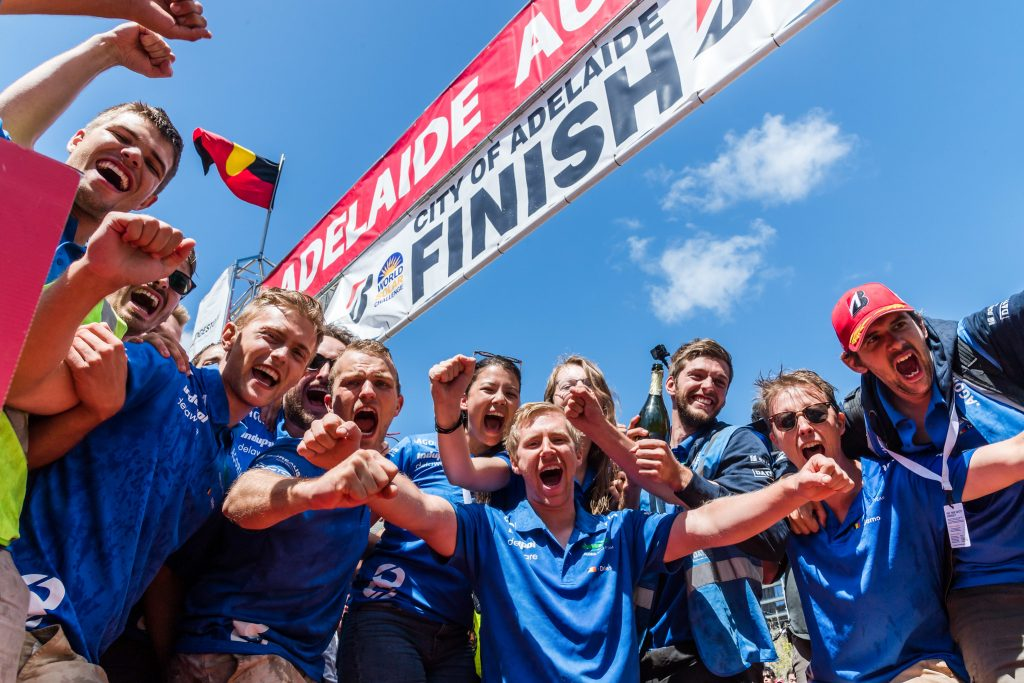 Time to celebrate Solar Team Leuven Wins World Solar Challenge