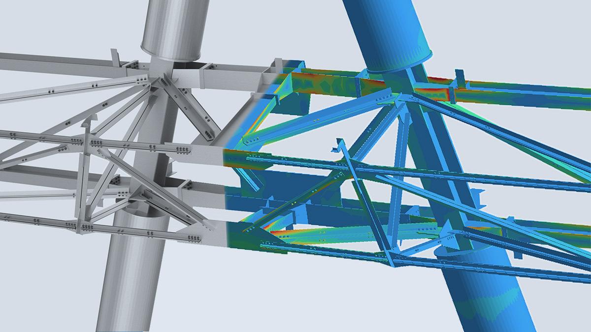 Strukturanalyse-Simulation für CAD im Bauwesen